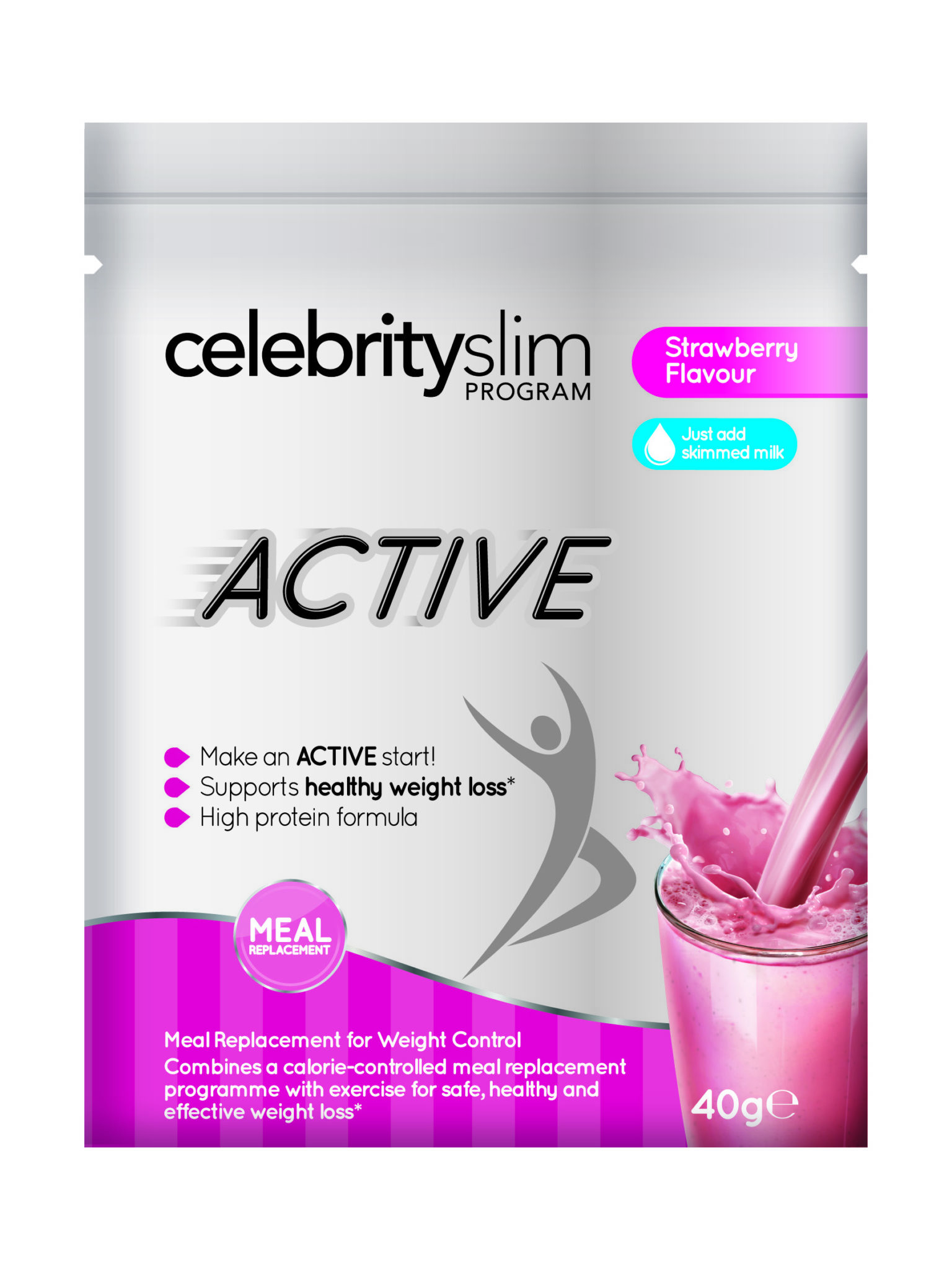 Active Strawberry Shake Pack Of 20 Sachets