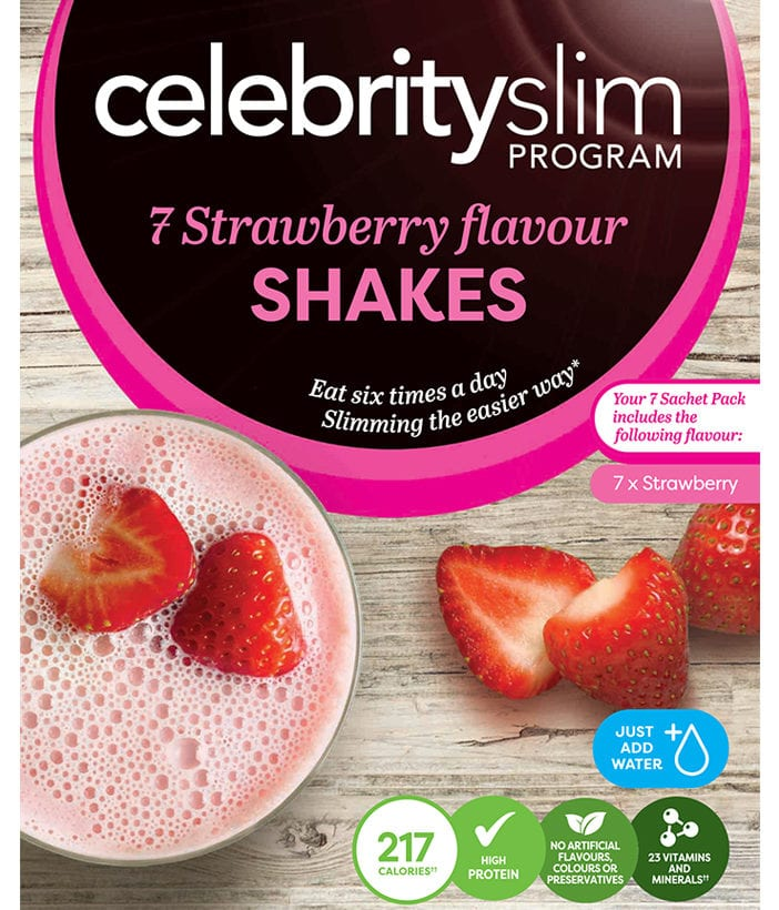 Strawberry Flavour Shake - Handy Pack (7 x Sachets)
